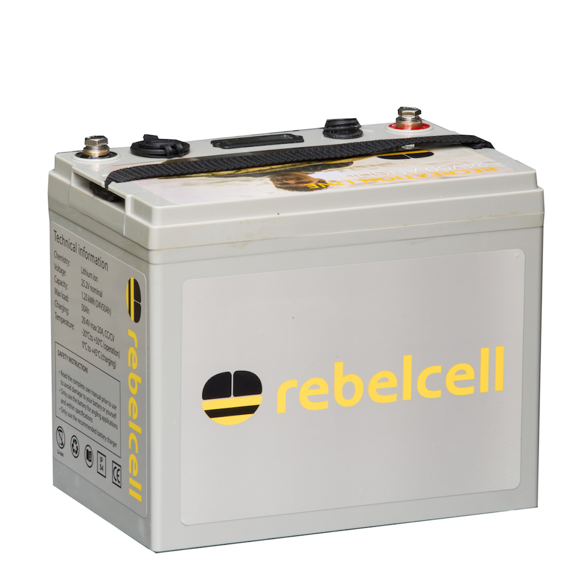 Rebelcell 24V50 Angling li-ion accu
