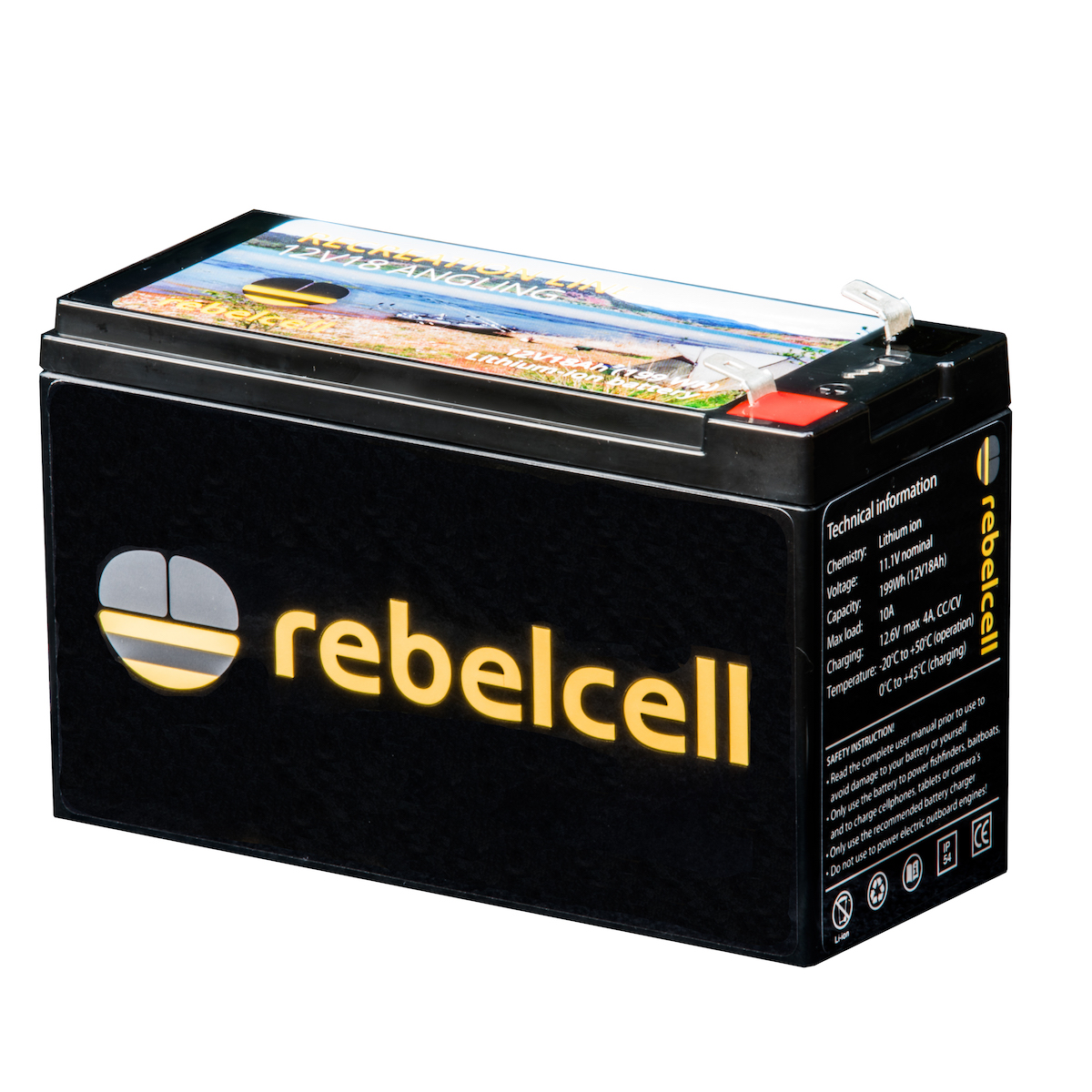 Rebelcell 12V18 Angling li-ion accu