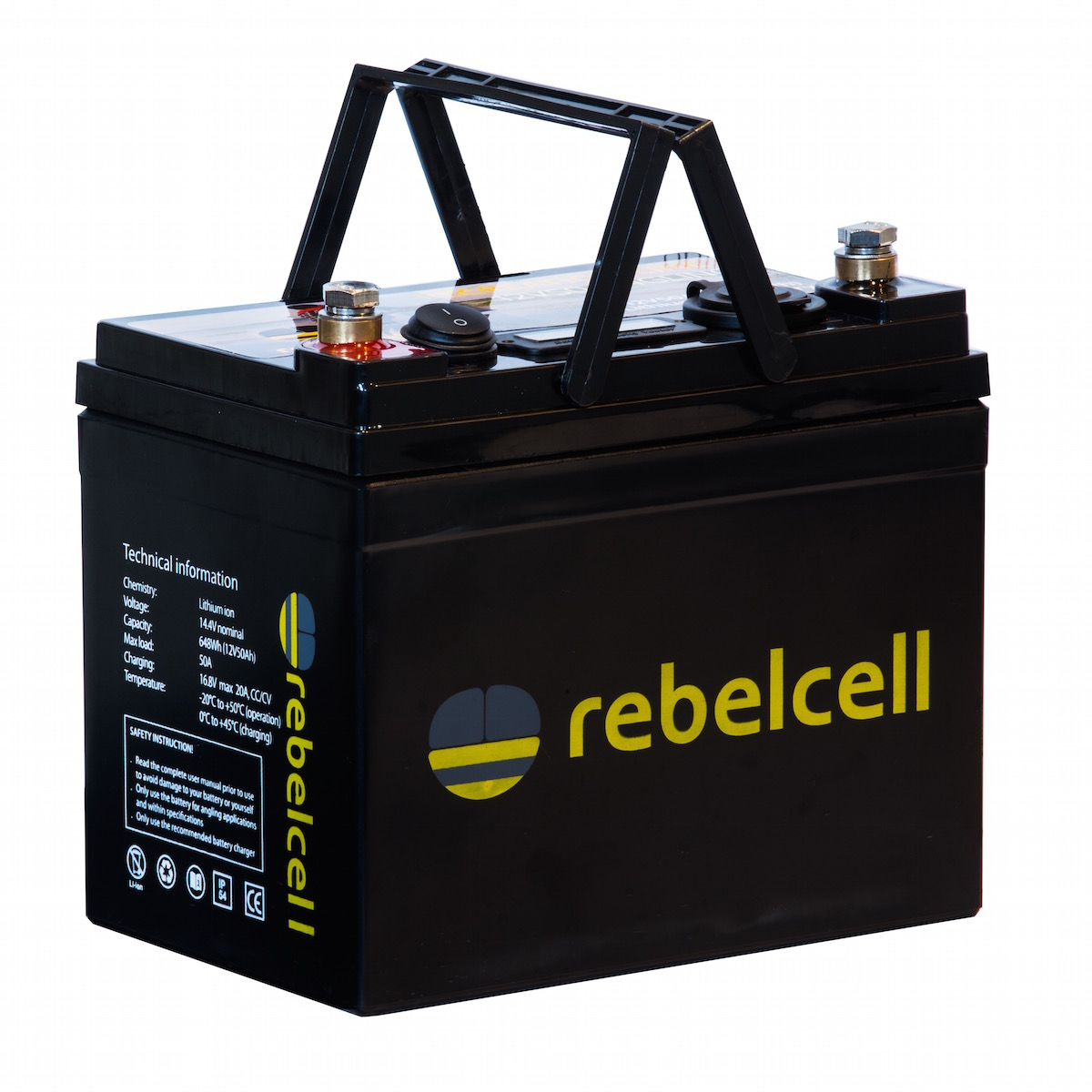 Rebelcell 12V50 Angling li-ion accu